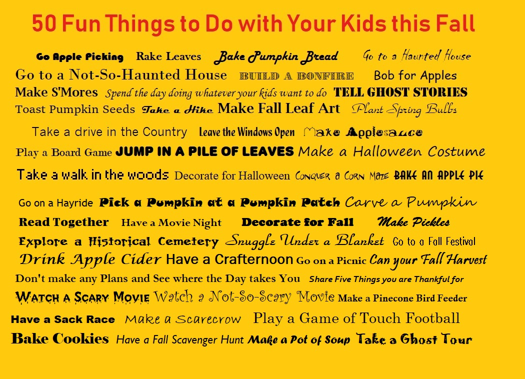 Fall Things to Do with Your Kids